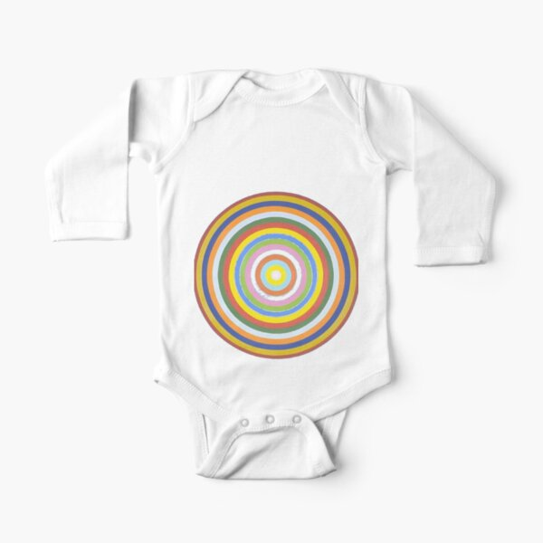 #Circle #Black #Square, #BlackSquare Long Sleeve Baby One-Piece