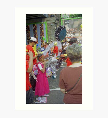 Carnival costume's, celebration. Art Print
