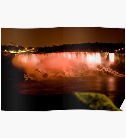 Falls at night Poster