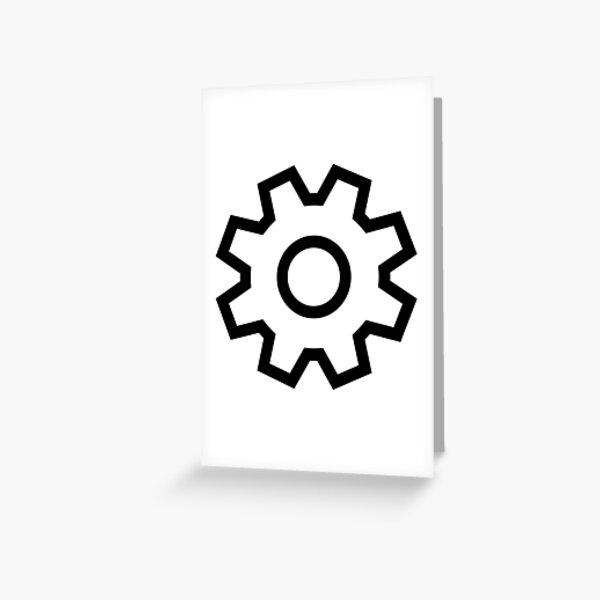 Settings Icon Greeting Card
