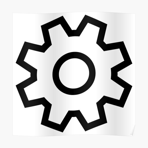 Settings Icon Poster