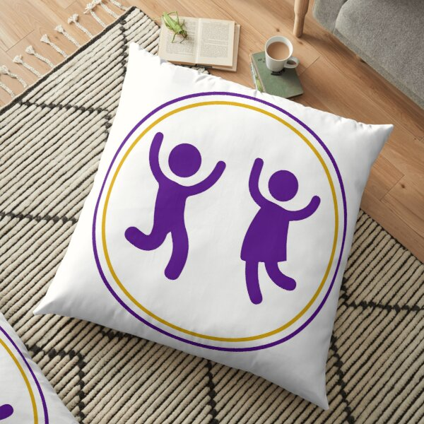#Icon #Kids #IconKids #Illustration, design, fun, symbol, art, cute, sign,  Floor Pillow