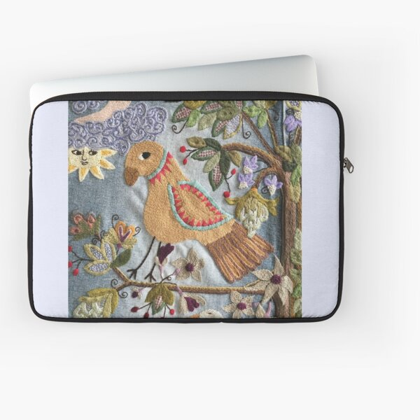 Parrot on Tree Laptop Sleeve
