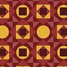 Pop Circle Squares by BigFatArts