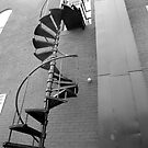 Spiral Fire Escape by Syd Weedon