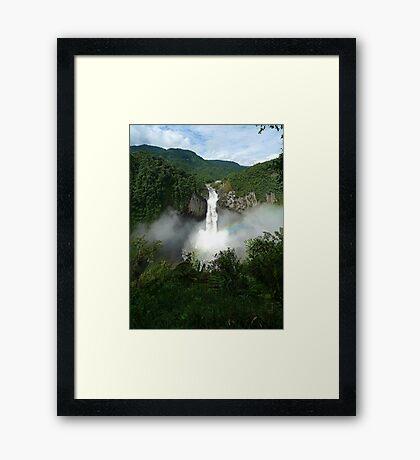San Rafael Falls - Ecuador Framed Print
