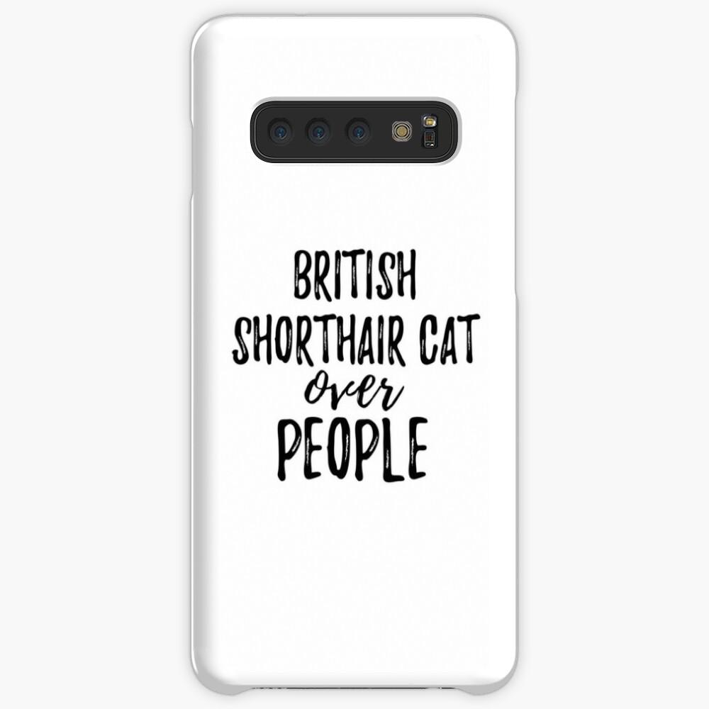 British Shorthair Cat Over People Fundas y vinilos para Samsung Galaxy