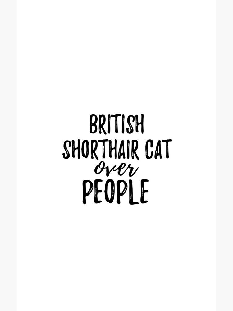 British Shorthair Cat Over People de FunnyGiftIdeas