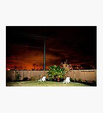 A Suburban Backyard Photographic Print