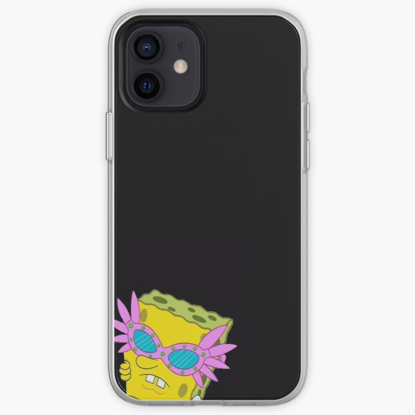 spongebob pink sunglasses meme iPhone Soft Case
