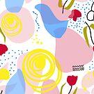 « motif tulipes roses  » par bintadesigns
