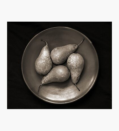 four pears in a bowl Photographic Print