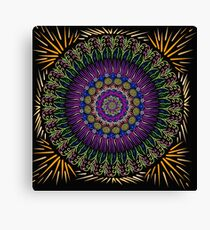 Golden harvest Mandala Canvas Print