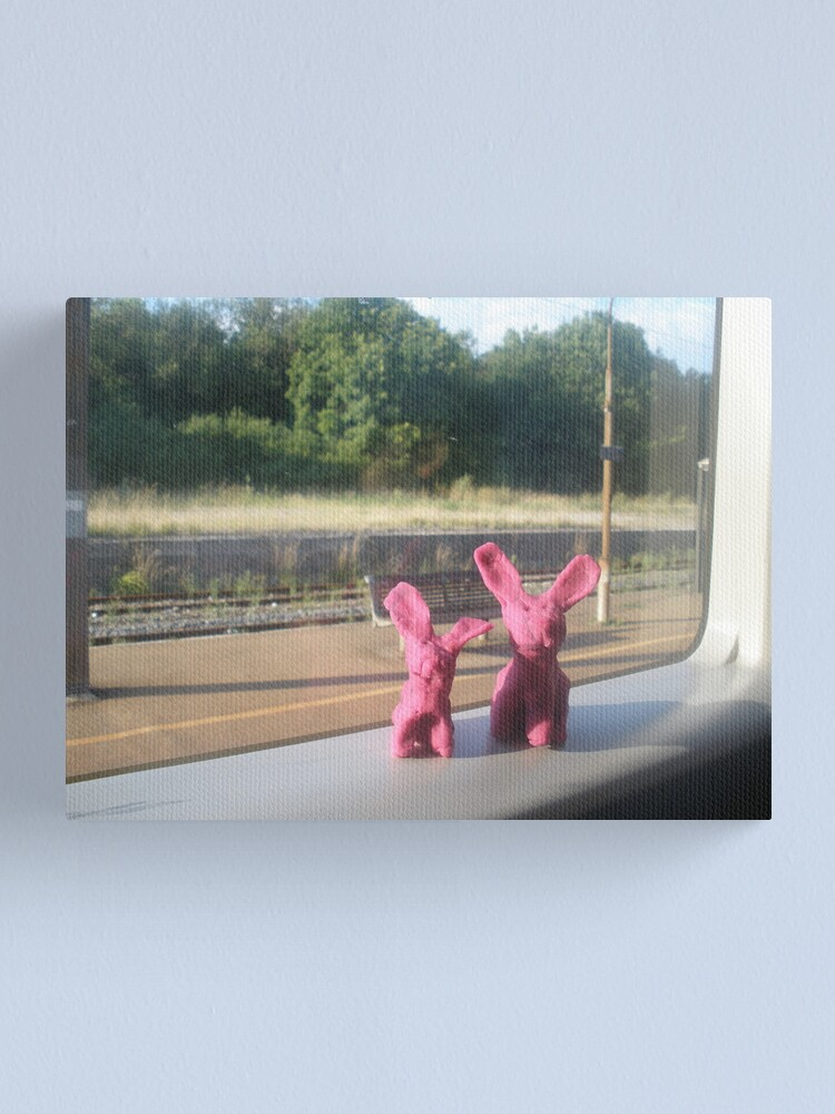 Alternate view of Rabbits on a train Canvas Print