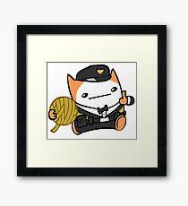 Battle Block Theater Cat Framed Print