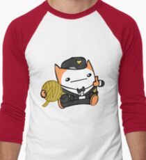 Battle Block Theater Cat Men's Baseball ¾ T-Shirt