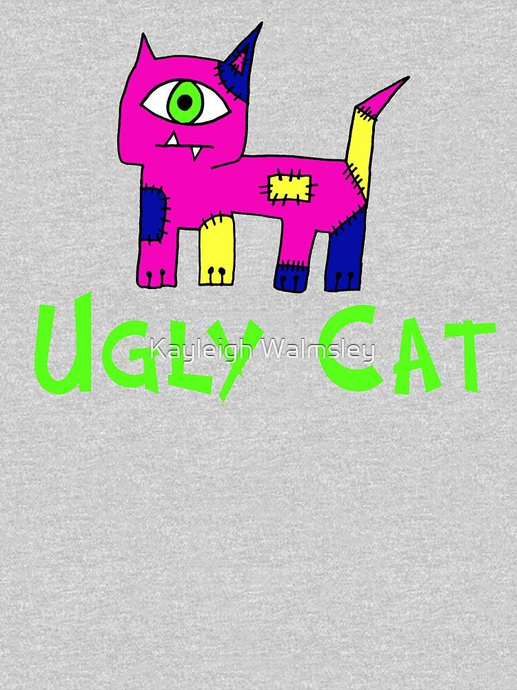 Ugly Cat (Girl) by bluegoddess