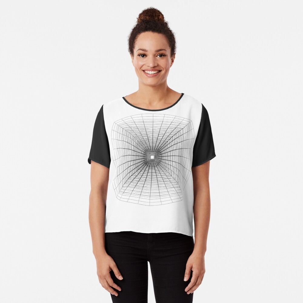 #Perspective #Drawing #Tunnel Chiffon Top