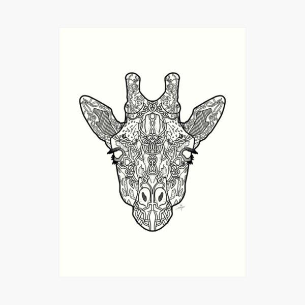 Norse Giraffe Art Print