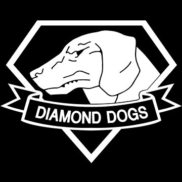 Metal Gear Solid - Diamond Dogs over Heart (White) by crimzind