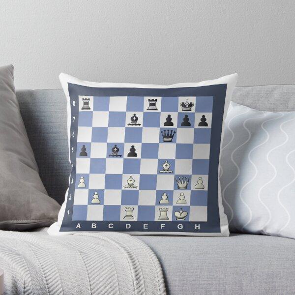 Chess, Chess Puzzle #Chess #Puzzle #ChessPuzzle Throw Pillow