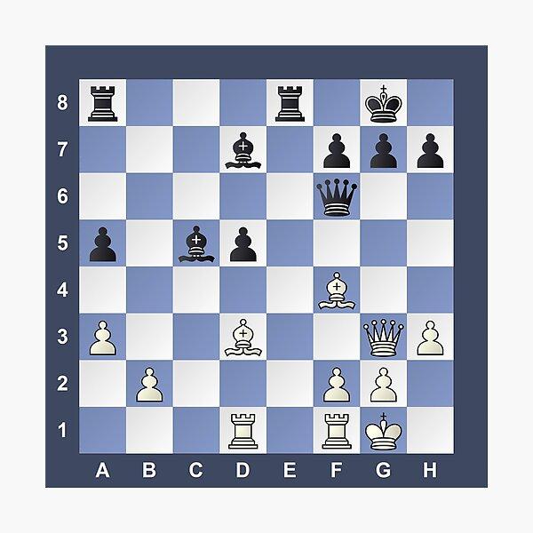 Chess Puzzle #Chess #Puzzle #ChessPuzzle Photographic Print