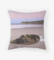 Covesea Lighthouse, Morayshire Throw Pillow