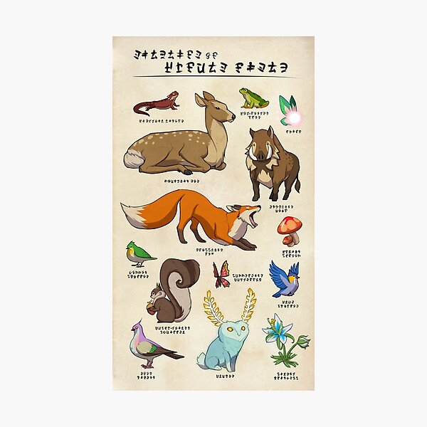 Wildlife of Hyrule Field Photographic Print