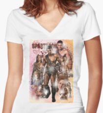 Spartacon Exclusive Women's Fitted V-Neck T-Shirt