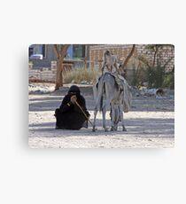 Bedhouin woman, Egypt Canvas Print