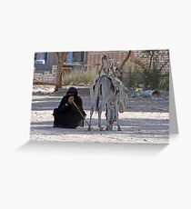 Bedhouin woman, Egypt Greeting Card