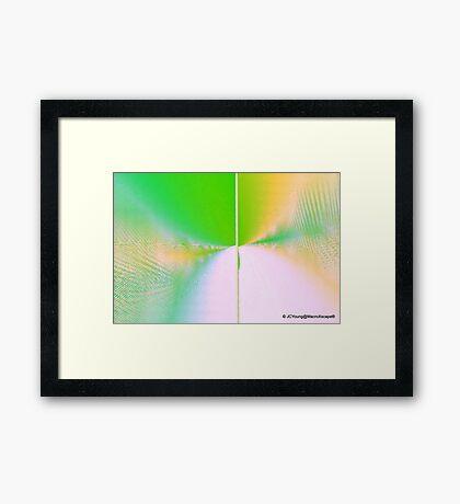 Sweeping Green Wave Framed Print