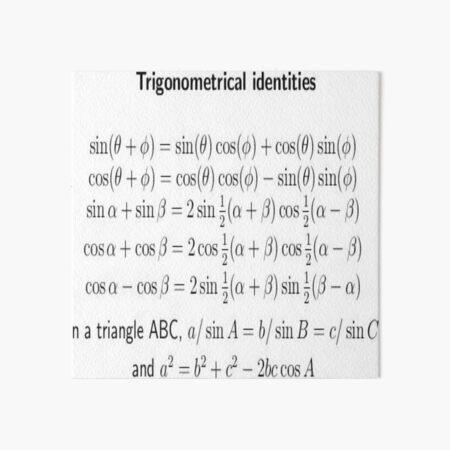 #Trigonometrical #Identities #TrigonometricalIdentities Art Board Print