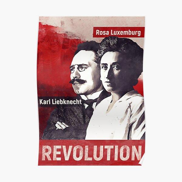 Rosa Luxemburg und Karl Liebknecht Poster