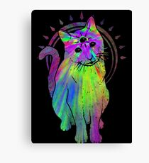 Psychic Psychedelic Cat Canvas Print