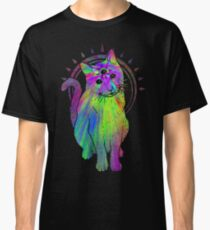 Psychic Psychedelic Cat Classic T-Shirt