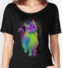 Psychic Psychedelic Cat Women's Relaxed Fit T-Shirt