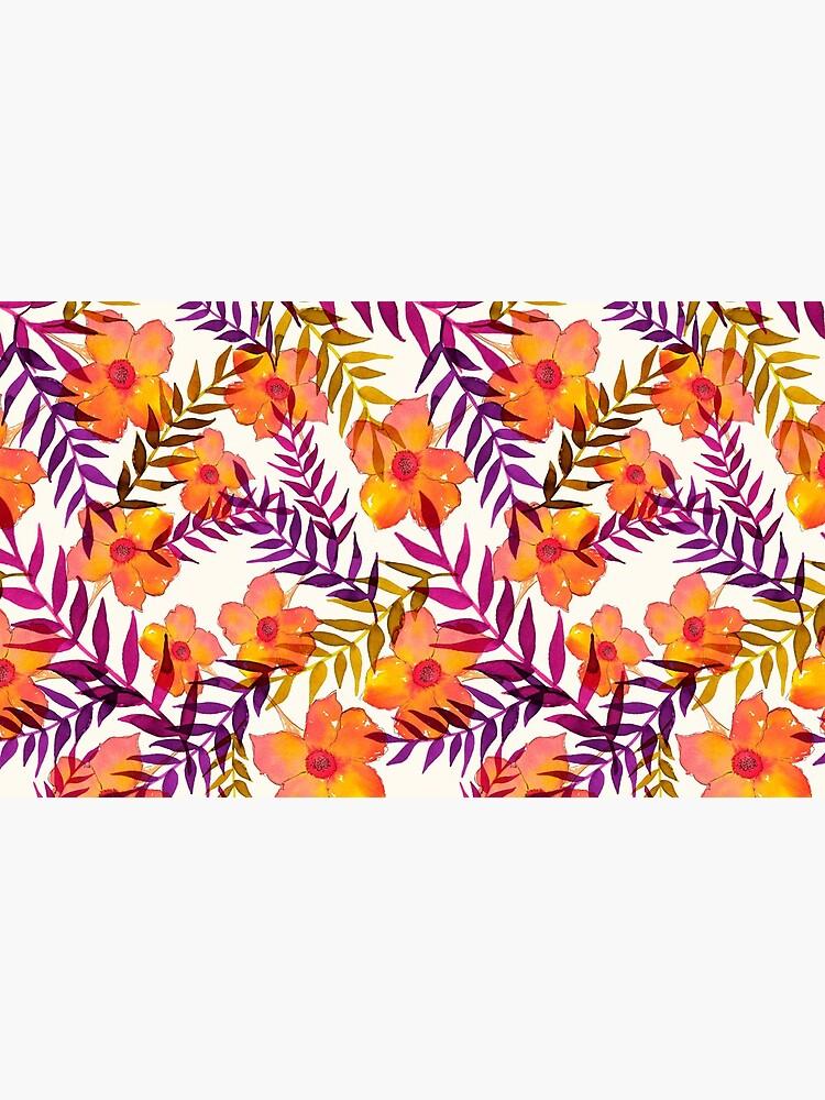 Tropisches Muster Blumen und Blätter von RanitasArt
