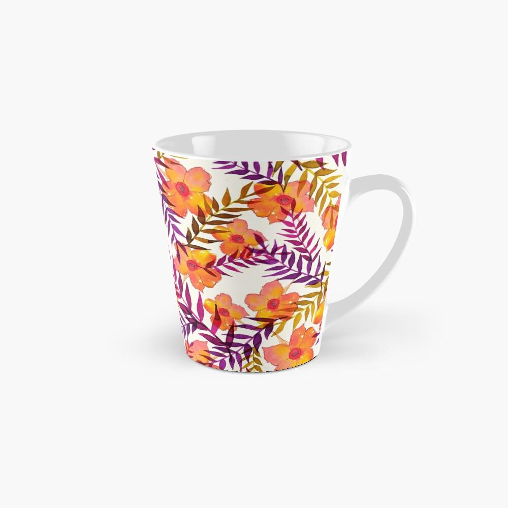 Tropisches Muster Blumen und Blätter Tasse