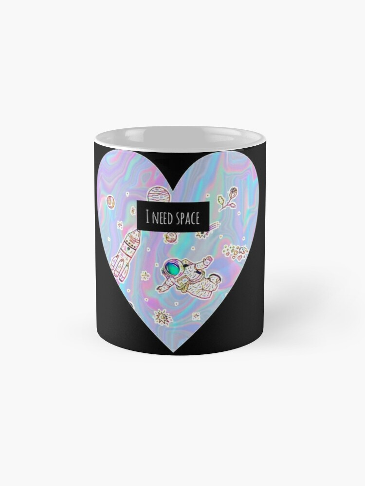 Alternate view of I need space (heart) Mugs