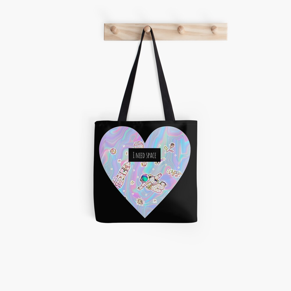 I need space (heart) Tote Bag
