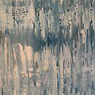 Blue Feathers, abstract art by Jody Pear by jodypeardesigns