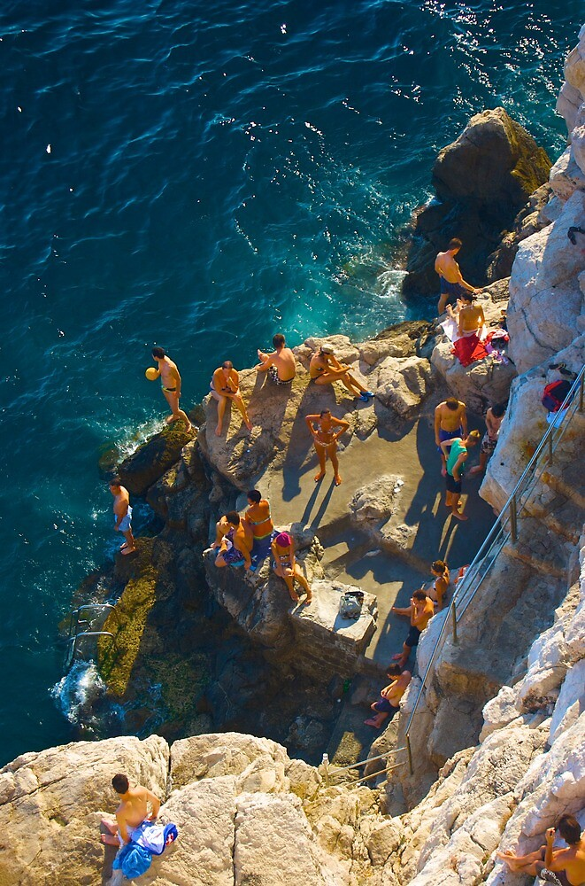 Hedonists' playground, Cafe Buza, Dubrovnik, Croatia by MikeyLee