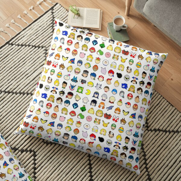 Super Smash Bros Ultimate Character Stock Icons - Appearance Order (Arrangement 1 of 4) Floor Pillow