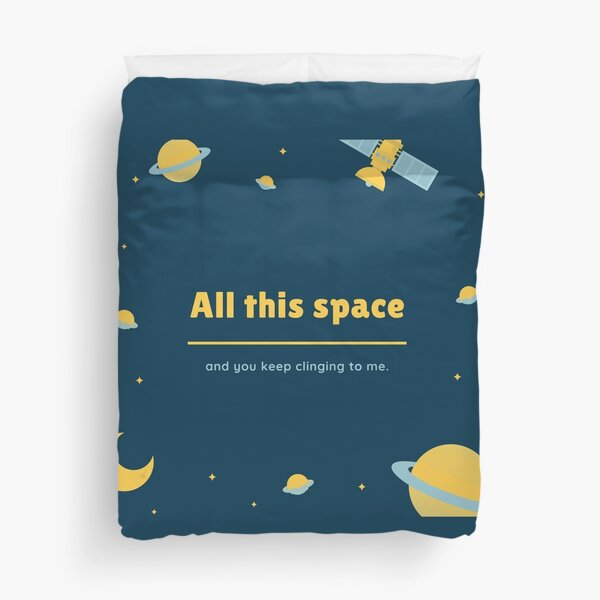 Personal Space Please Duvet Cover