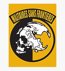 Metal Gear Solid - MSF (Militaires Sans Frontières) Photographic Print