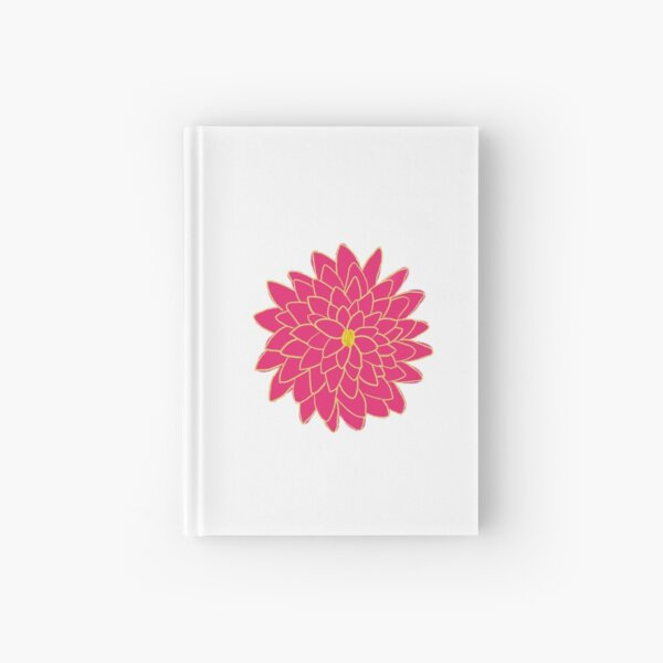 Single Pink and Yellow Dahlia  Hardcover Journal
