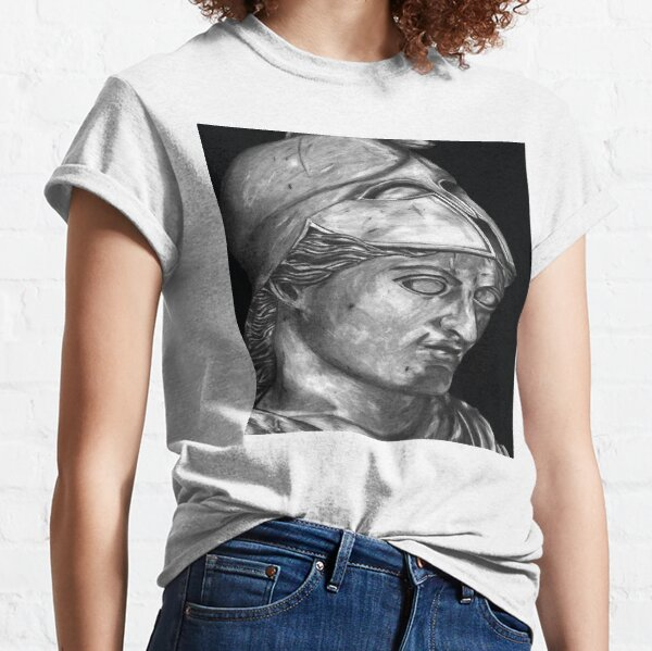 Cast of a Colossal Bust of Athena at the Carnegie Museum Classic T-Shirt