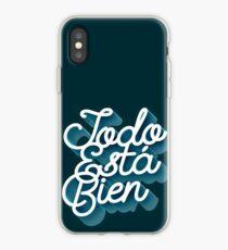 Todo Esta Bien (Faded Blue) iPhone Case
