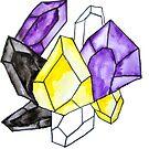 Nicht-binärer Stolz-Kristall von Kendra Kantor